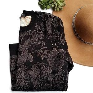 Ann Taylor Jacquard Knit Floral Sweater
